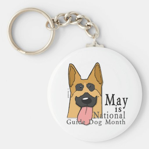 National Guide Dog Month Keychain