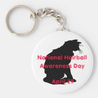 National Hairball Awareness Day Keychain