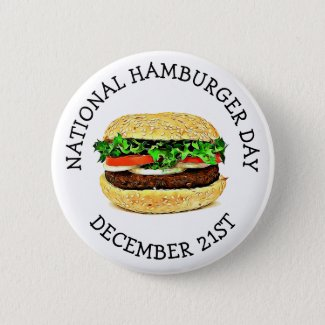 National Hamburger Day Button