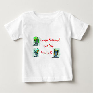 National Hat Day January 15 Baby T-Shirt