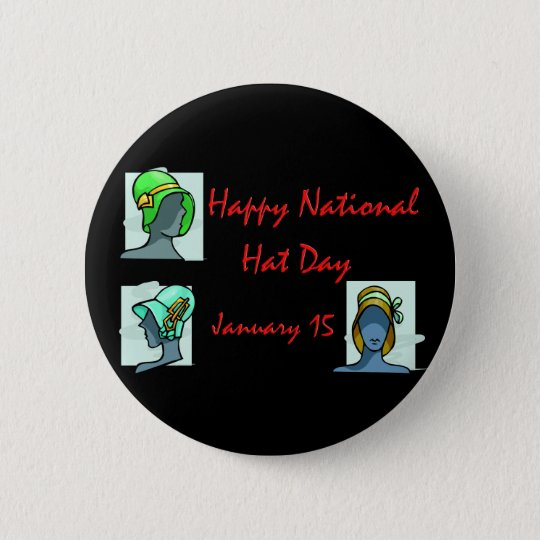 National Hat Day January 15 Button