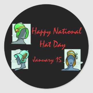 National Hat Day January 15 Classic Round Sticker