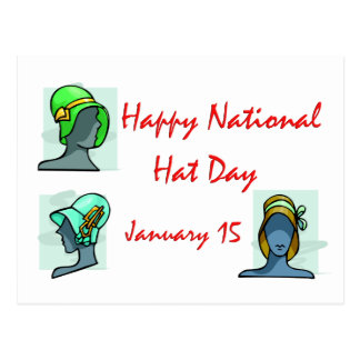 National Hat Day January 15 Postcard