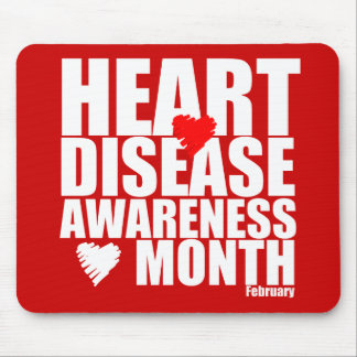 National Heart Disease Awareness Month Go Red Mousepad