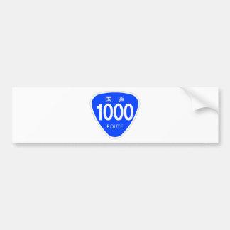 National highway 1000 line - national highway sign bumper sticker