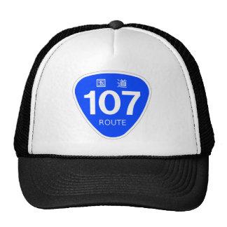 National highway 107 line - national highway mark trucker hat