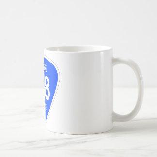 National highway 158 line - national highway mark coffee mug