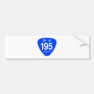 National highway 195 line - national highway sign bumper sticker