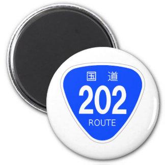 National highway 202 line - national highway sign 2 inch round magnet