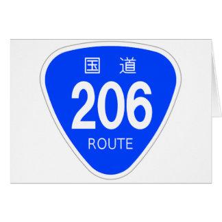 National highway 206 line - national highway sign greeting card