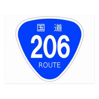 National highway 206 line - national highway sign