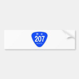 National highway 207 line - national highway sign bumper sticker