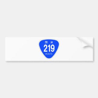 National highway 219 line - national highway sign bumper sticker