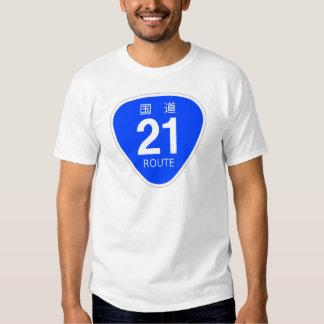 National highway 21 line - national highway sign shirt