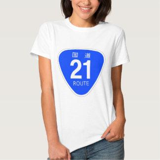 National highway 21 line - national highway sign t-shirts