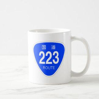 National highway 223 line - national highway sign coffee mug