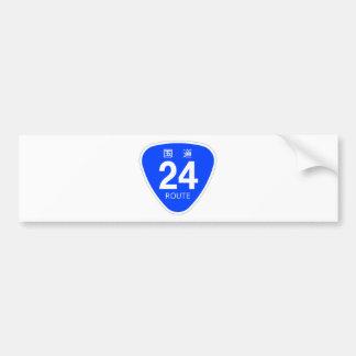 National highway 24 line - national highway sign bumper sticker