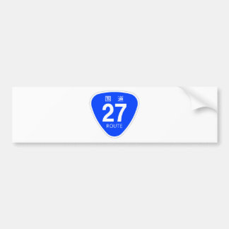 National highway 27 line - national highway sign bumper stickers