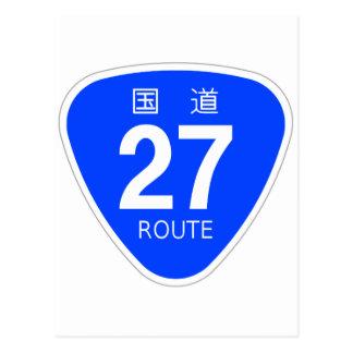 National highway 27 line - national highway sign