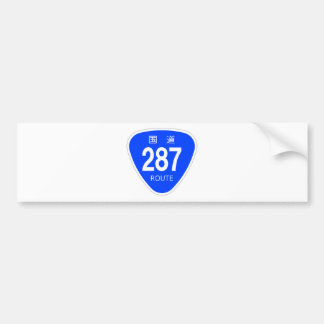 National highway 287 line - national highway sign bumper stickers