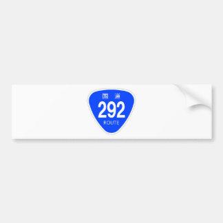 National highway 292 line - national highway sign bumper sticker