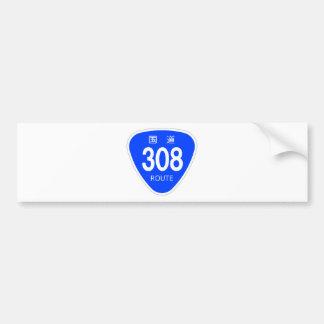 National highway 308 line - national highway sign bumper sticker