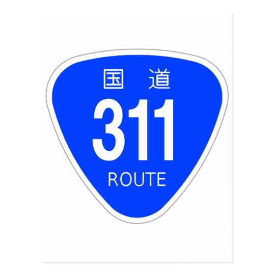 National highway 311 line - national highway sign postcard