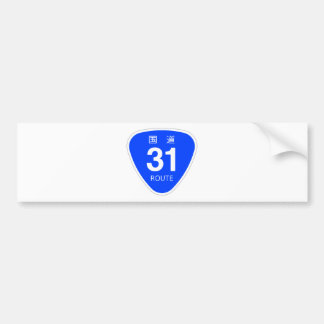 National highway 31 line - national highway sign bumper sticker
