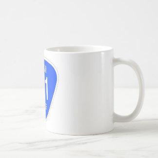 National highway 321 line - national highway sign coffee mug