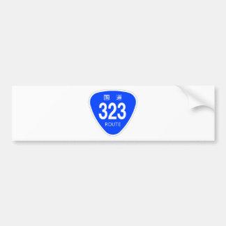 National highway 323 line - national highway sign bumper sticker