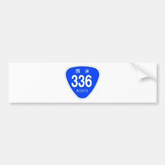 National highway 336 line - national highway sign bumper sticker