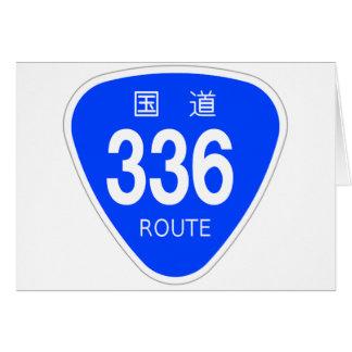 National highway 336 line - national highway sign card