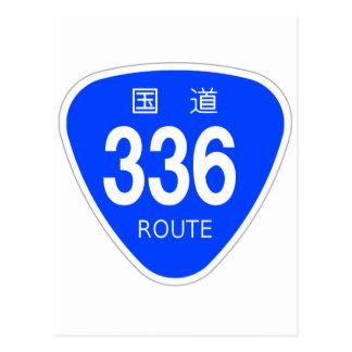 National highway 336 line - national highway sign postcard