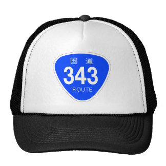 National highway 343 line - national highway sign trucker hat
