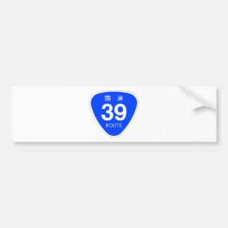 National highway 39 line - national highway sign bumper sticker