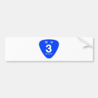 National highway 3 line - sign car bumper sticker