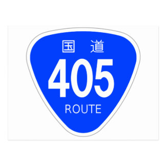 National highway 405 line - national highway sign post cards
