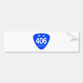 National highway 406 line - national highway sign bumper sticker
