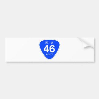 National highway 46 line - national highway sign bumper sticker