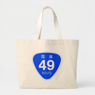 National highway 49 line - national highway sign canvas bag