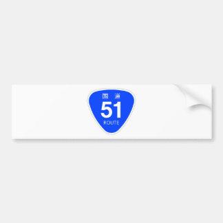National highway 51 line - national highway sign bumper sticker
