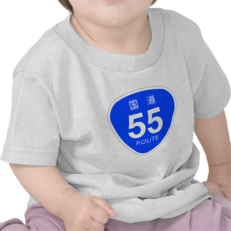 National highway 55 line - national highway sign t shirts