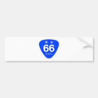 National highway 66 line - national highway sign bumper sticker