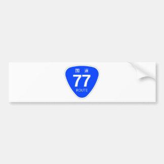 National highway 77 line - national highway sign bumper sticker