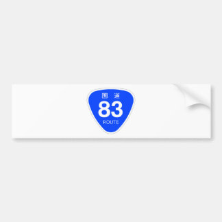 National highway 83 line - national highway sign bumper sticker