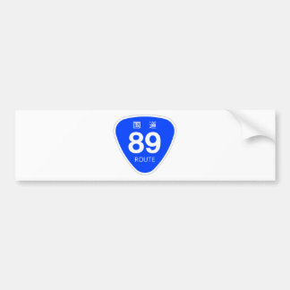 National highway 89 line - national highway sign bumper stickers