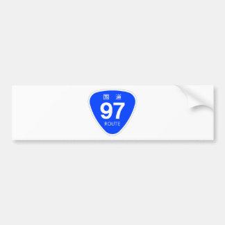 National highway 97 line - national highway sign bumper sticker