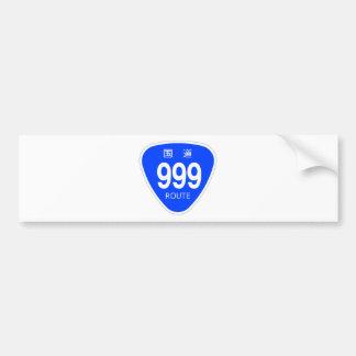 National highway 999 line - national highway sign bumper sticker