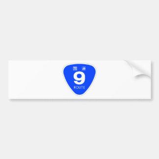 National highway 9 line - national highway sign na bumper sticker