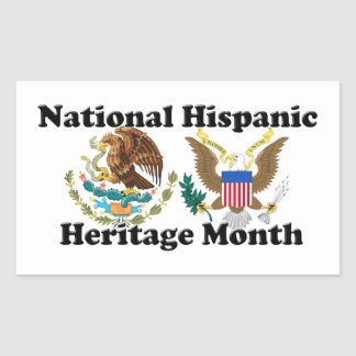 National Hispanic Heritage Month - Eagles Rectangular Stickers